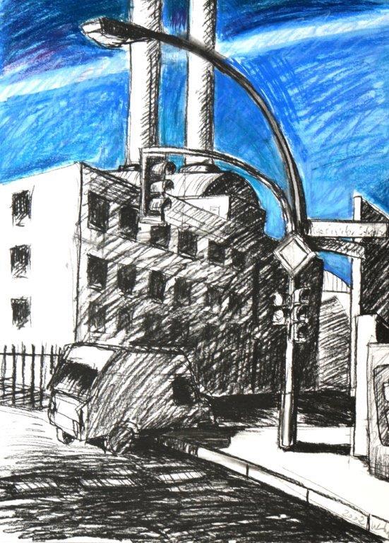 Zeichnerischer Zyklus Berlin Mitte (70x52)